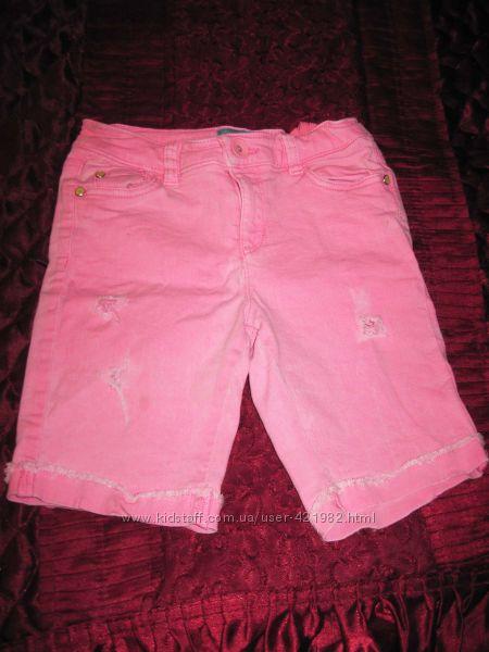 Шорты розовые джинсовые