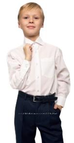 Школьная белая рубашка для мальчиков