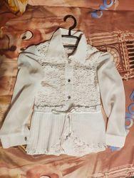 Красивые нарядные блузы р. 128-134