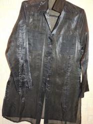 0c6674968475 Длинная прозрачная рубашка цвет металлик, 150 грн. Блузки и женские ...