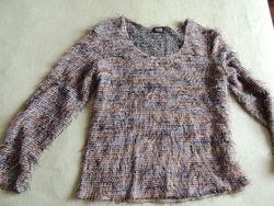 Легкий свитер травка золотистый