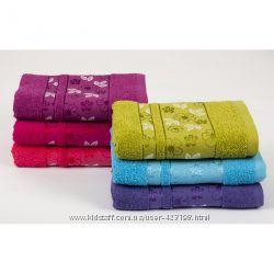 Отличные махровые  полотенца тм Binnur в упаковках по 6 штук