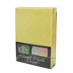 Махровые простыни 160-200 см на резинке в наборе с наволочками 50-70 см