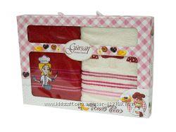 Наборы кухонных полотенец Gursan 40-60 см выбор расцветок