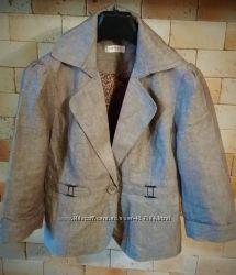 Orsay пиджак новый лето лён  коттон