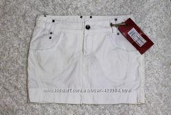 Only белая джинсовая мини-юбка