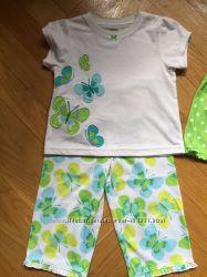 Брендовая пижама-тройка Carters и ночнушки для девочек