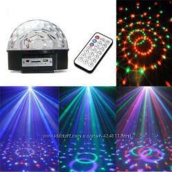 Светомузыка дискр шар  Magic Ball Musik mp3 плеер с пультом и флешкой