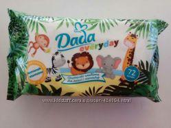 Детские влажные салфетки Dada everyday 72 шт. Польша.