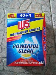 W5 All in One таблетки для посудомоечных машин все в одном  40шт