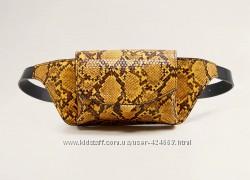 Поясная сумка со змеиным эффектом, сумка на пояс, талию бананка манго mango