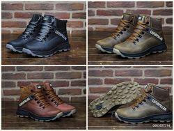 Мужские зимние кожаные зимние ботинки , cat . очень крепкие и теплые. униве