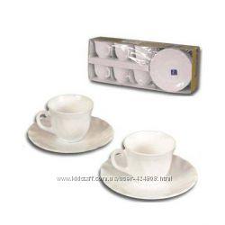 Кофейный набор Luminarc TRIANON 12 предметов 6 чашек 90 мл с блюдцами