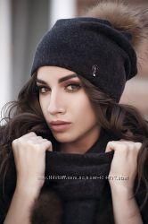 Красивая женская качественная шапка на флисе