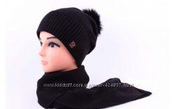 комплект шапочка и шарф отличное качество