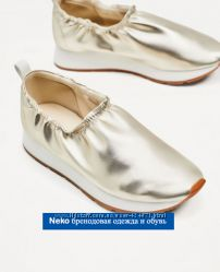 Модные слипоны Zara оригинал