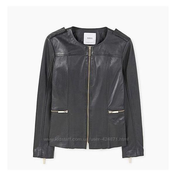 натуральная кожа женская куртка xs-s, s-m Mango оригинал