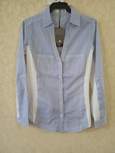 женская рубашка, блузка в полоску xs mango оригинал