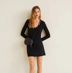 женское черное платье xs-s mango оригинал