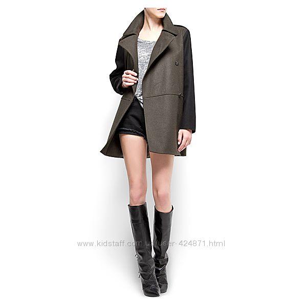 Женское пальто из шерсти хаки l-xl  Mango оригинал