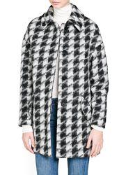 женское пальто, полу пальто, бойфренд шерсть m-l Mango оригинал гусиная лапка