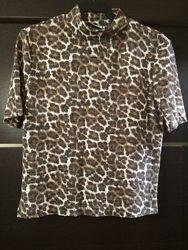 женская футболка леопардовый животный принт s-m zara оригинал