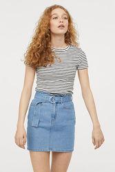 женская футболка в полоску m-l H&M оригинал