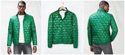 мужская зеленая демисезонная куртка m, l, xl, xxl mango оригинал