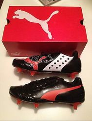 мужские черные футбольные бутсы, кроссовки 43-44 puma оригинал