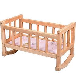 Деревянная кроватка для кукол с матрасиком 40 см и 50см