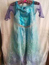 Карнавальное платье Эльзы Frozen, на 9-10 лет светящееся