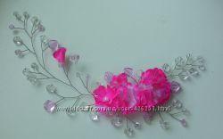 Цветочная веточка для волос