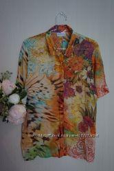 Красивая воздушная блуза 100 натуральный шёлк Германия