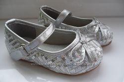 Нарядные туфельки размер 21-22 13 см. Кожа