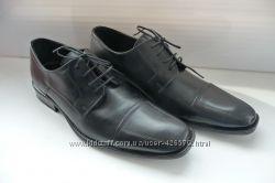 Туфли мужские кожаные черные Новые Италия Кожа 41, 5 42 Filanto
