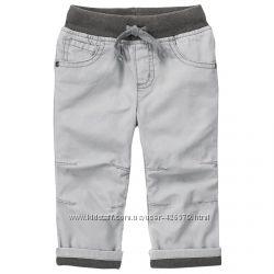 Хлопковые штаны на подкладке на мальчика 3 года Gymboree