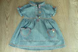 Джинсовое летнее платье George 9-12 месяцев