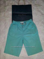 Шорты Zara, бирюзового цвета, пояс резинка размер 122 на 7 лет