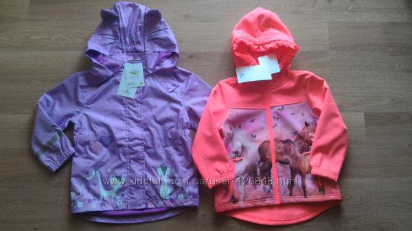Ветровки и куртки софтшелл  Topolino для девочек. Выбор расцветок
