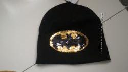 Трикотажные шапки H&M реверсивные паетки, Бетмен, для мальчиков