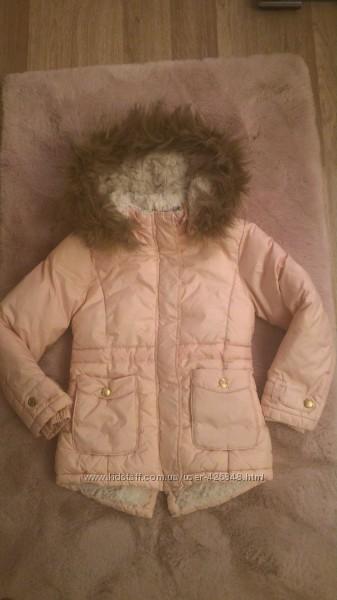 Зимняя удлиненная куртка Kanz для девочки 6лет