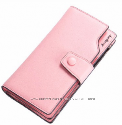 Розовый кожаный кошелек клатч Baellerry в наличии