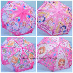 Детские зонты девочкам холодное сердце, маша, винкс, пеппа, принцесса София