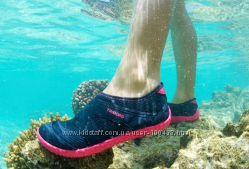 Аквашузы коралки 22 см чёрные неопрен, 21 голубые резиновые