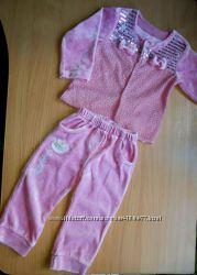 Велюровый костюмчик для малышки