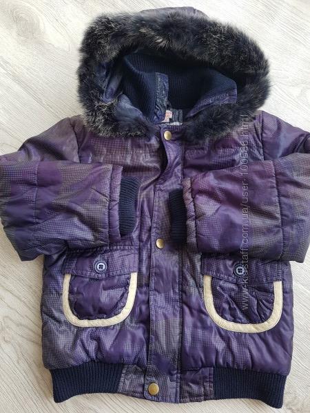 Куртка демисезон р. 104 шапка в подарок
