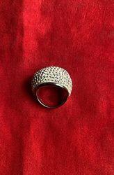 Кольцо серебро с кристаллами