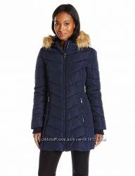 Женское пальто осень-зима Тommy Hilfiger с капюшоном из искусственного мех