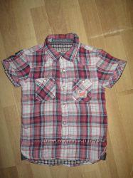 Летняя рубашка на кнопках для мальчика