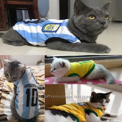 Футбольная одежда любимой сборной для котов, собак - в наличии